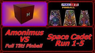 Amonimus VS Full Tilt! Pinball (Space Cadet Run 1-5)