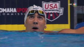 Olympic Swimming Trials | Michael Phelps Out-Touches Ryan Lochte In The 200m IM