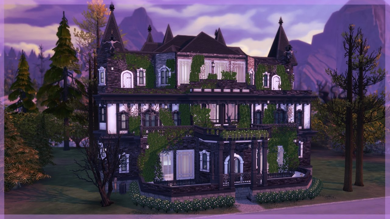 The Sims 4 Vampires House Build The Dark Palace Youtube