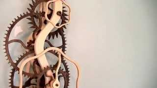 Serpentine Wooden Gear Clock