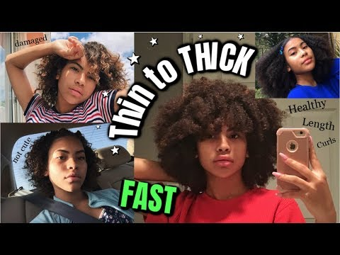 How I Grew My Natural Curly Hair FAST with Rice Water + My Hair Journey 2019