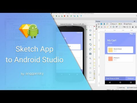 UI Design to Android XML Tutorial - Cart Shopping