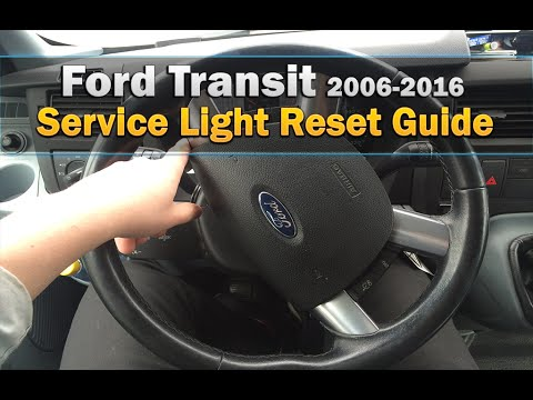 Ford Transit Service Light Reset 2006 2016 Youtube