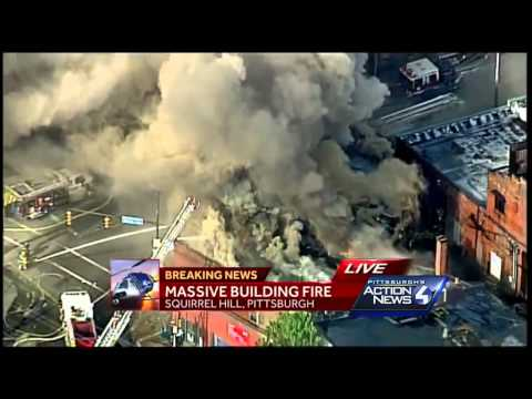 Squirrel Hill business district fire: ground video