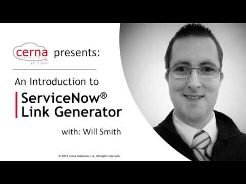An Introduction to ServiceNow Link Generator