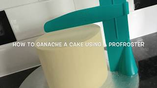 How to ganache a cake using a profroster tutorial