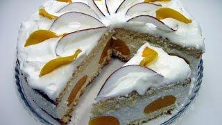 Торт ''Райское наслаждение'' / Очень лёгкий и нежный, пошаговый рецепт для праздничного стола