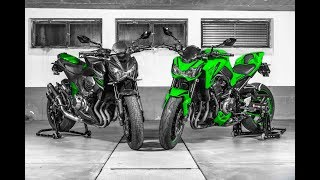 Kawasaki z800 vs. z900│Comparison│English Subtitles│SWISSBIKER