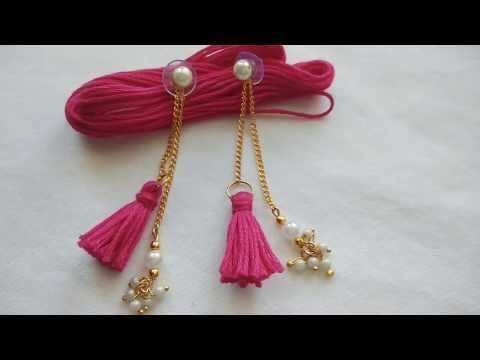 Pearl Dangling Earring with Tassels|| Pearl Earring