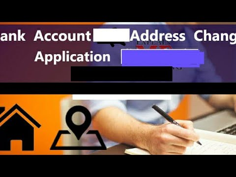 Write an application for change of address to the Bank Manager.