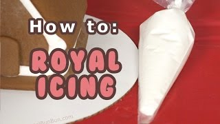 Day #6 ❄ How To - Best Gingerbread House Royal Icing ❄ (12 Days Of Christmas)