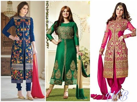 Latest & Beautiful Sherwani Style Suit /Design For Girls 2018