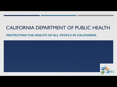 About the California Department of Public Health