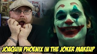 First Look at Joaquin Phoenix in The Joker Makeup!!!!