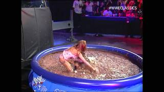 Repeat youtube video Candice vs. Melina (Pudding Match) - June 3, 2007