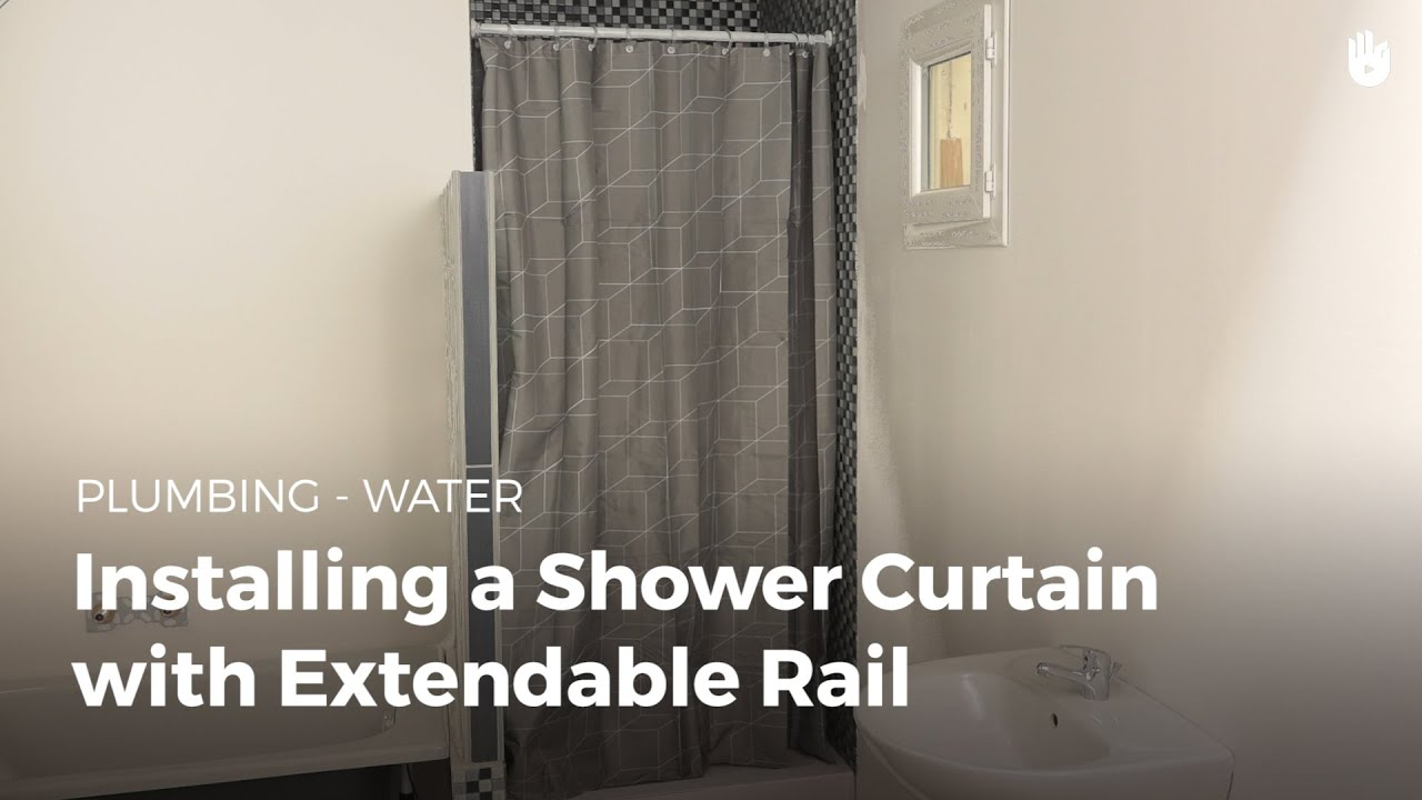 how to install a shower curtain diy projects