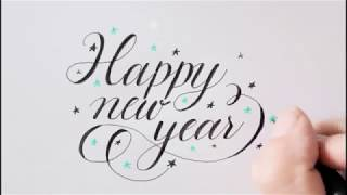 how to write in cursive | happy new year | easy way