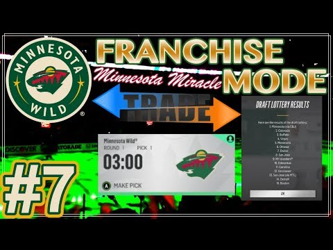 "NHL 18 Minnesota Wilds Franchise Mode #7 ""DRAFT - BIG Trade Acquisition"""