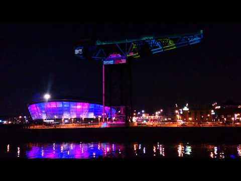 Projection mapping onto the Finnieston Crane