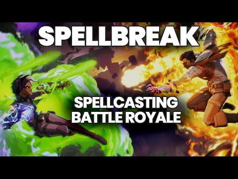 Spellbreak Gameplay - Spellcasting Battle Royale Game + Winning a Match