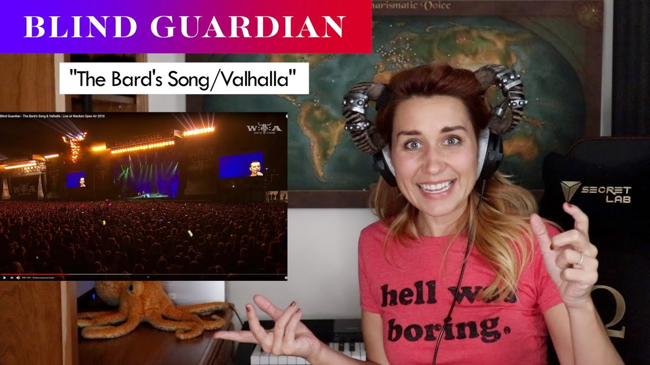 """Blind Guardian """"The Bard's Song & Valhalla"""" REACTION & ANALYSIS by Vocal Coach/Opera Singer"""