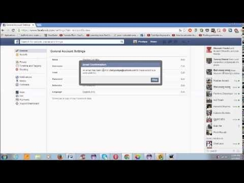 How to change Login E-mail  address on  Facebook