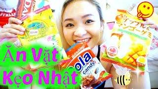 trying japanese candy   thử đồ ăn vặt kẹo nhật beesweetiee
