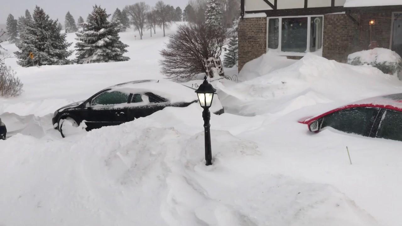 Bismarck, North Dakota Christmas Blizzard, 2016. All time record ...