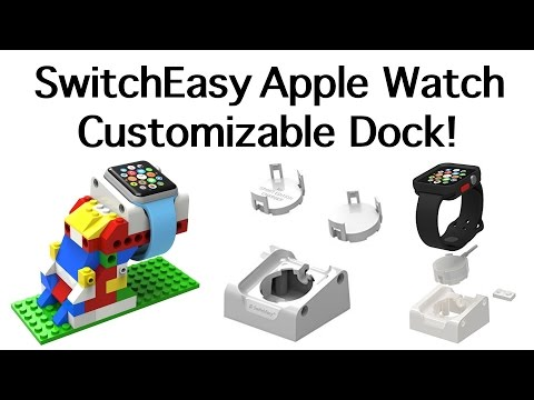 SwitchEasy BLOCKS Apple Watch Customizable Dock Building Stand!