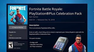 HOW TO GET FORTNITE FREE PS PLUS PACK 4! PlayStation Celebration Pack 4 Release date!