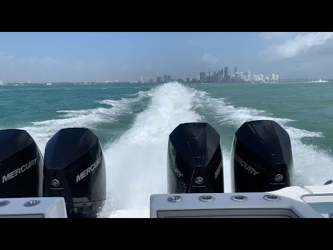 Tideline Boats 365 Offshore Powercat With Quad Mercury Outboards, 1200 HP!
