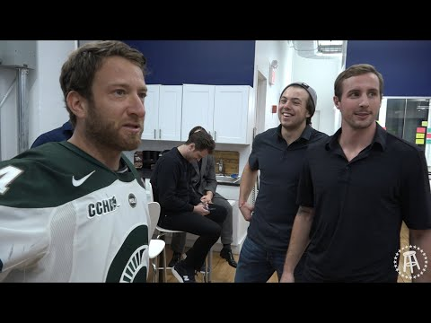 Barstool Goalie Challenge Featuring Charlie McAvoy and Tim Schaller of the Boston Bruins