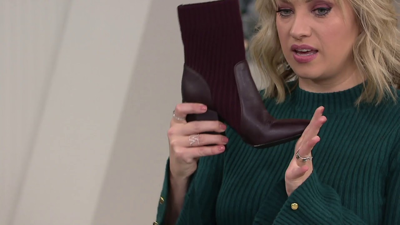 4ddb4a49e84 Vince Camuto Leather Textile Ankle Boots - Diandra on QVC - YouTube