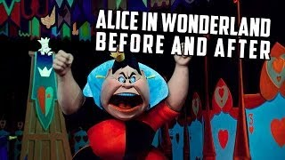 Alice in Wonderland before and after 2014 refurb