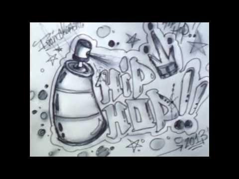 Como dibujar un Graffiti paso a paso - ( Dibujos animados ) - YouTube