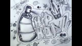 Como dibujar un Graffiti paso a paso - ( Dibujos animados )
