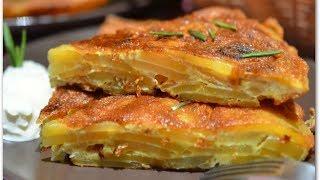 Испанская тортилья  Как приготовить