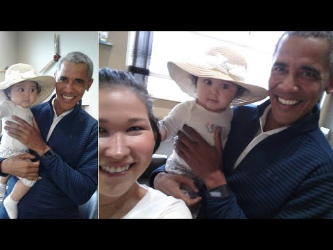 See What Happens After President Obama Asks to Hold Baby at Airport