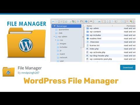 WordPress File Manager Plugin Tutorial 2019 thumbnail