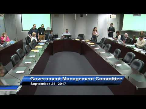 Government Management Committee - September 25, 2017