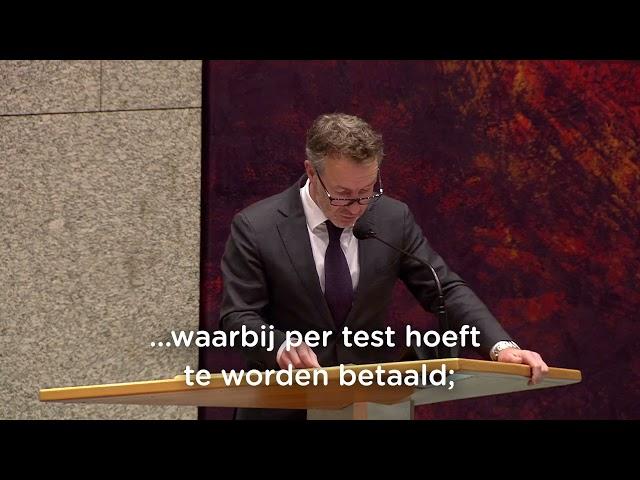 Motie van afkeuring vanwege de financiële blunders van het ministerie van VWS   03-06-2021
