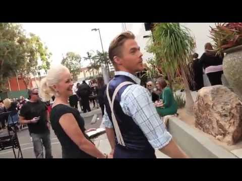 Derek & Julianne Hough And Their Mother Marriann For A DWTS Finale Photo/Video Shoot!