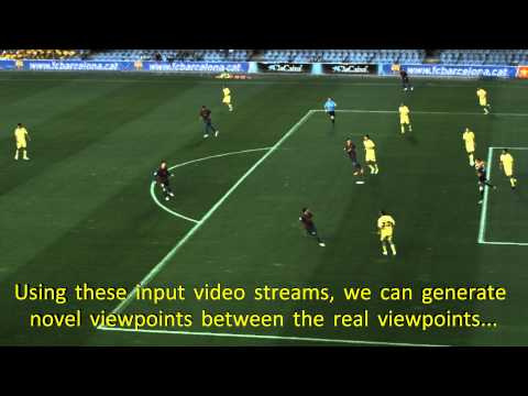 Free Viewpoint Interpolation for soccer games