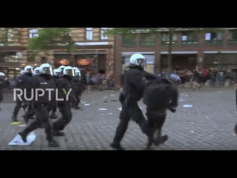 Germany: Journalist knocked down by police officer during G20 protests, Hamburg