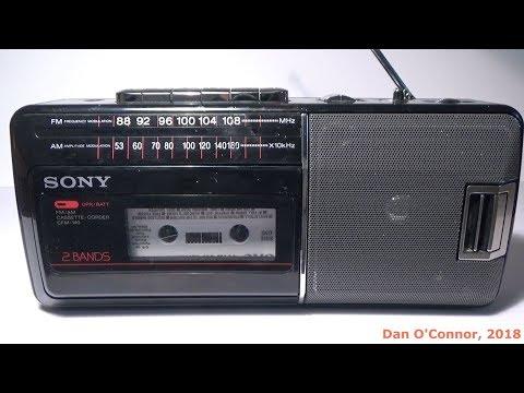 1989 Sony Radio Cassette-Corder; CFM-140