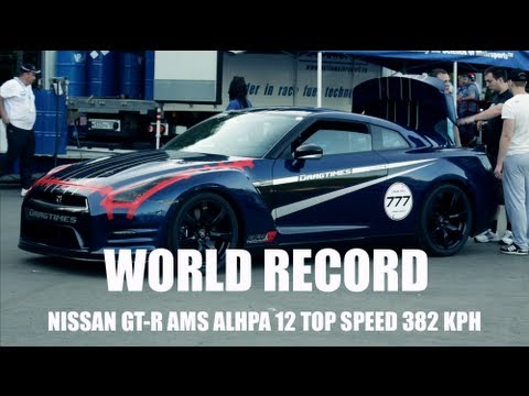 Gt R Ams Top Speed World Record 382 Kph 237 5 Mph