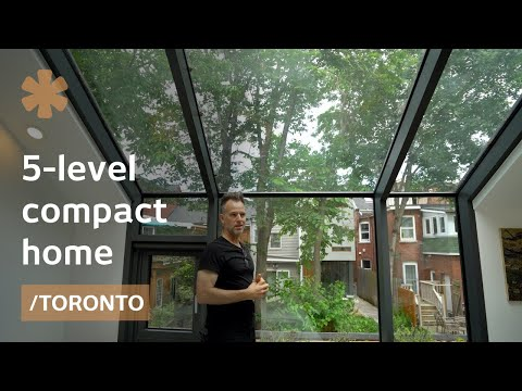 Alleyway home in Toronto makes room splitting into 5 levels