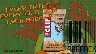 Prepack : Clif Bar Review!  ALL FLAVORS in ONE VIDEO!*