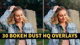 30 Bokeh Dust HQ Overlays Download  N JPG Files English Photoshop Tutorial