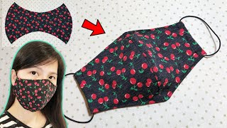 very easy How to make a simple fabric face mask at home Face Mask Sewing Tutorial